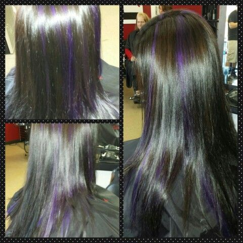 Purple Lowlights  Little Red's Cut & Dye Salon LLC 609-A South Main Street Sapulpa OK 9189029479