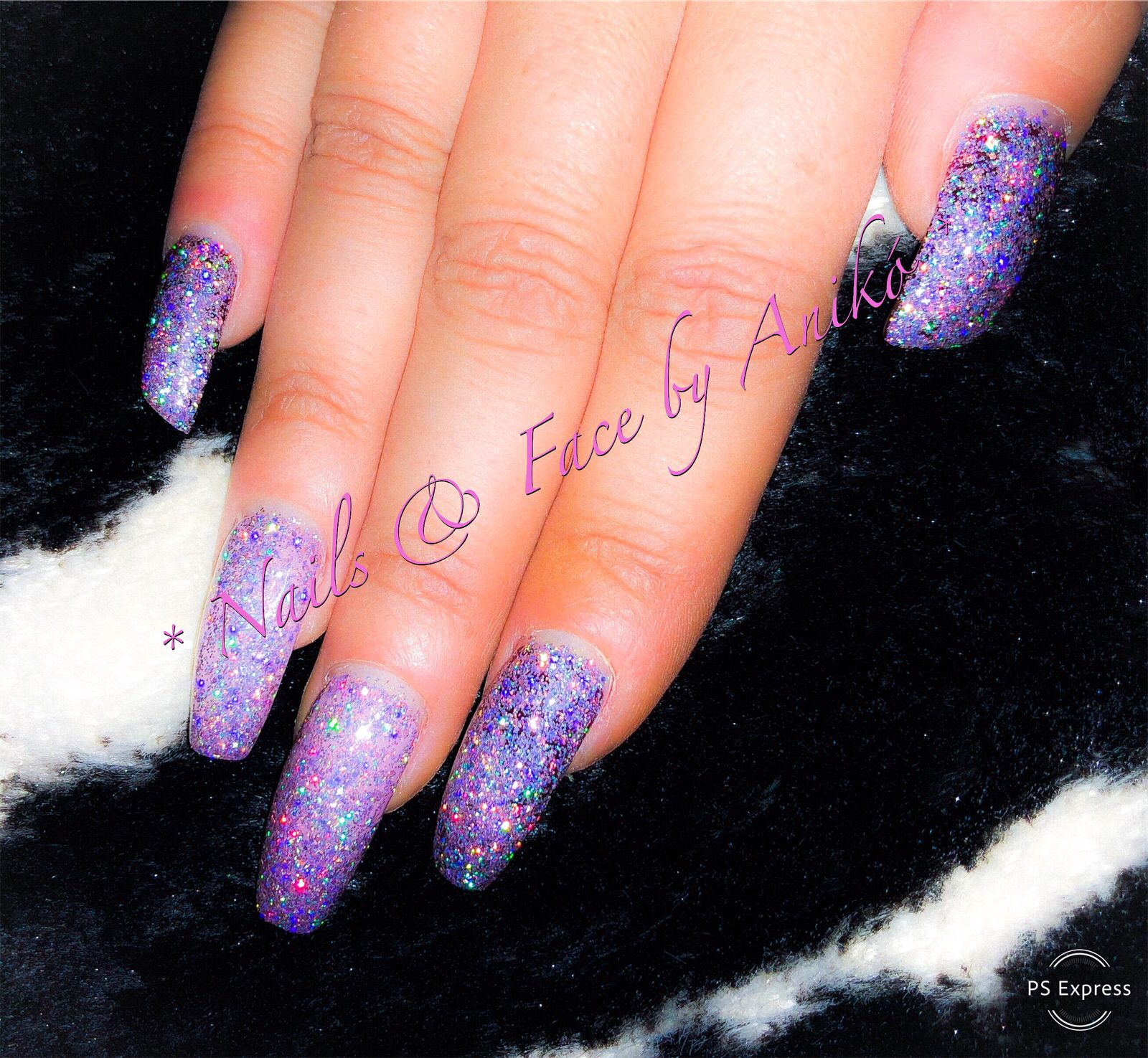 Glitter Nails Sparkling Galaxy 921 Abc Nailstore Long Nails