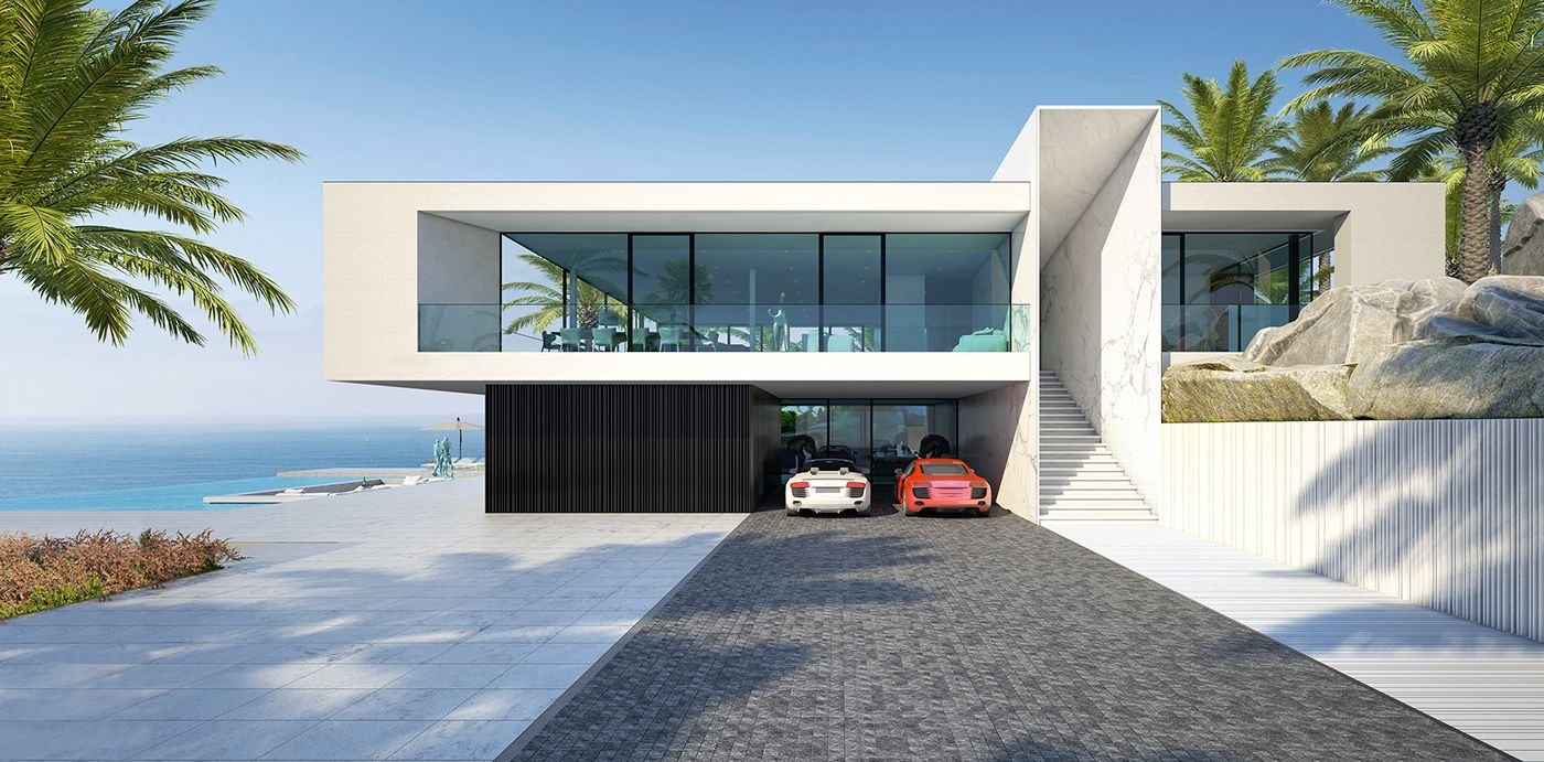 White Beach House Located In Spain Esta Puede Ser Una Opción Fusionando 2 Megapods Osea 8 Habitaciones