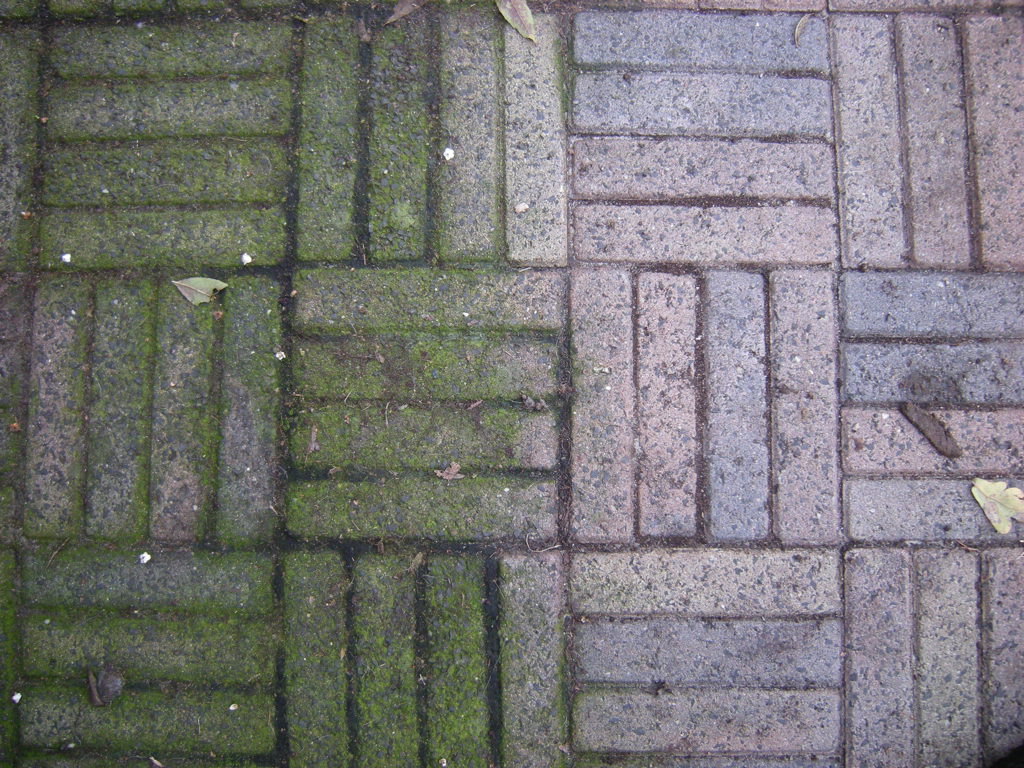 groene aanslag van tegels verwijderen met azijn