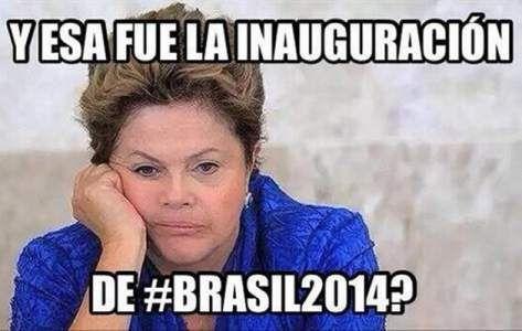 Memes de la inauguración del Mundial de Brasil 2014 -