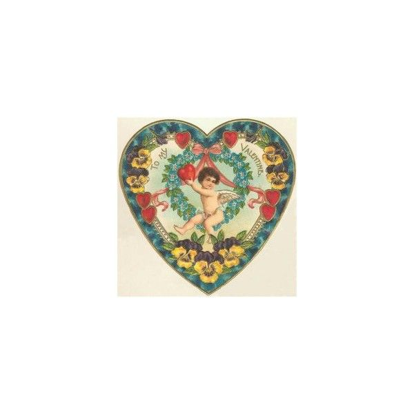free vintage valentine hearts clip art found on polyvore