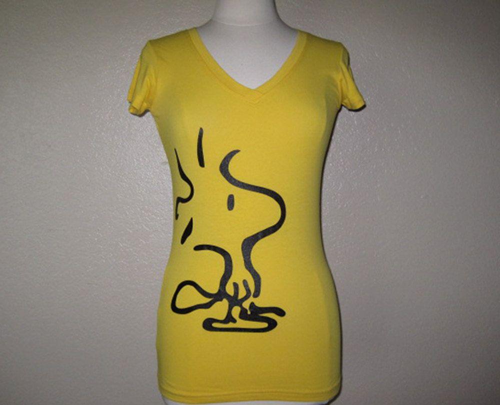 Woodstock yellow bird Snoopy Peanuts Gang Charlie Brown Womens ...