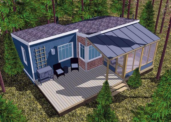 la compagnie les beaux refuges propose une habitation volutive qui peut passer de cabine. Black Bedroom Furniture Sets. Home Design Ideas
