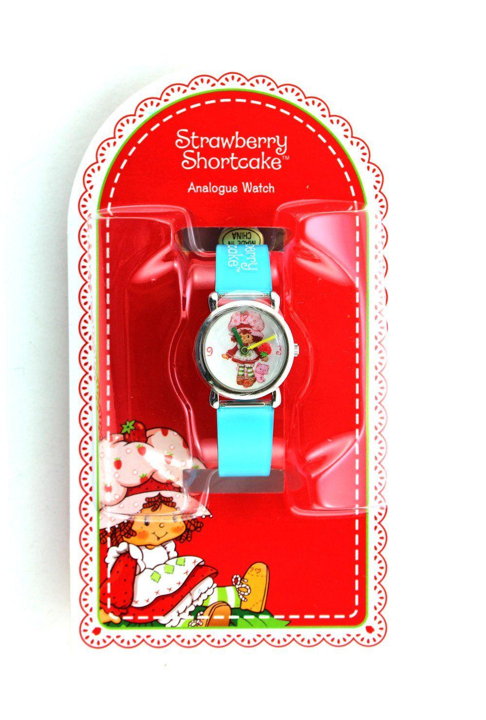 Blue band strawberry shortcake watch
