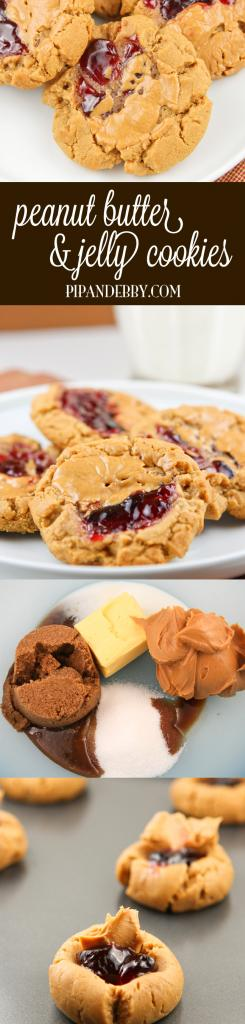 Peanut Butter and Jelly Cookies - Be ready to swoon over these delicious cookies!