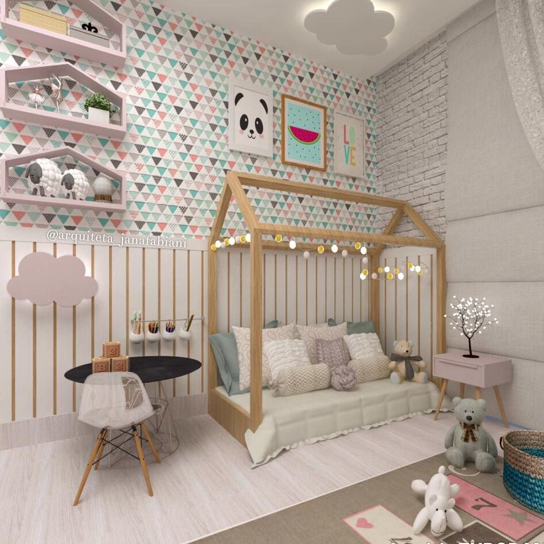 Quarto Montessoriano Montessori Cama Casinha Quarto De Menina  ~ Decoração De Quarto De Menina Bebê