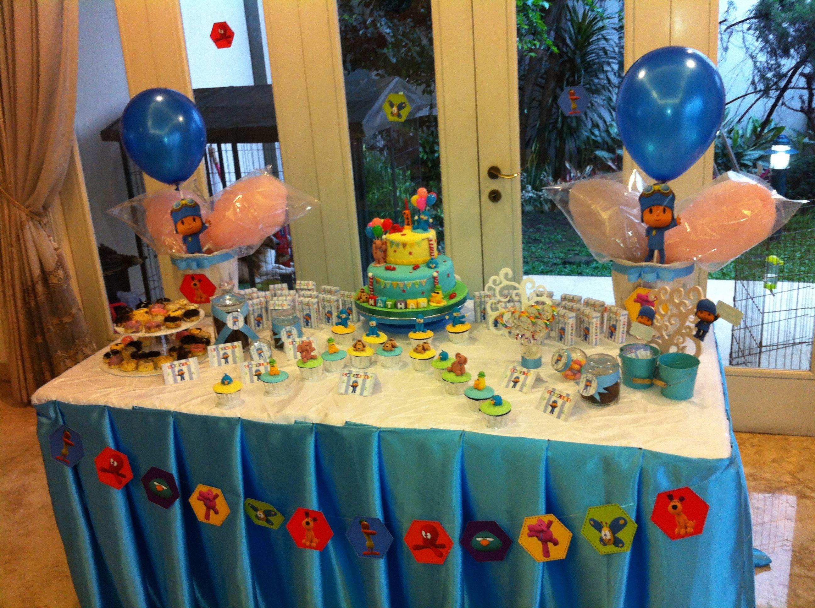 Pocoyo party decor idea6 2nd birthday pocoyo party ideas - Decoracion fiestas infantiles en casa ...