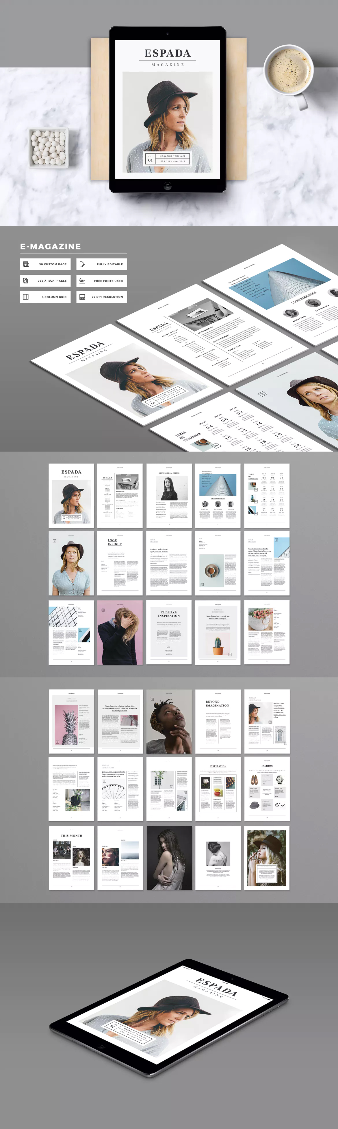 E-Magazine Template InDesign INDD | E-Publishing Templates ...