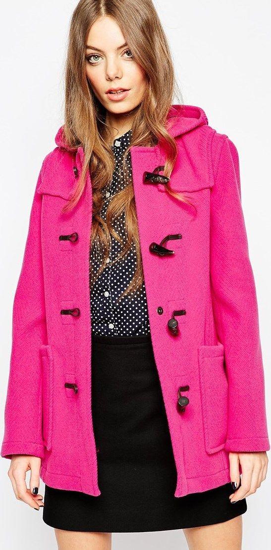 9fa0e5a20b0 Abrigo rosa con botones ASOS Stileo.es