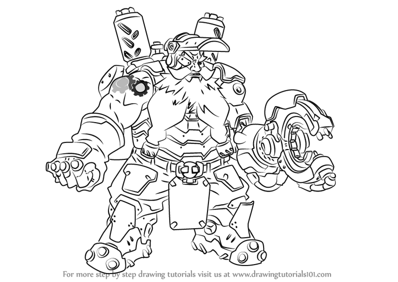 Learn How To Draw Torbjorn From Overwatch Overwatch Step By Step Drawing Tutorials Coloring Pages Overwatch Drawings