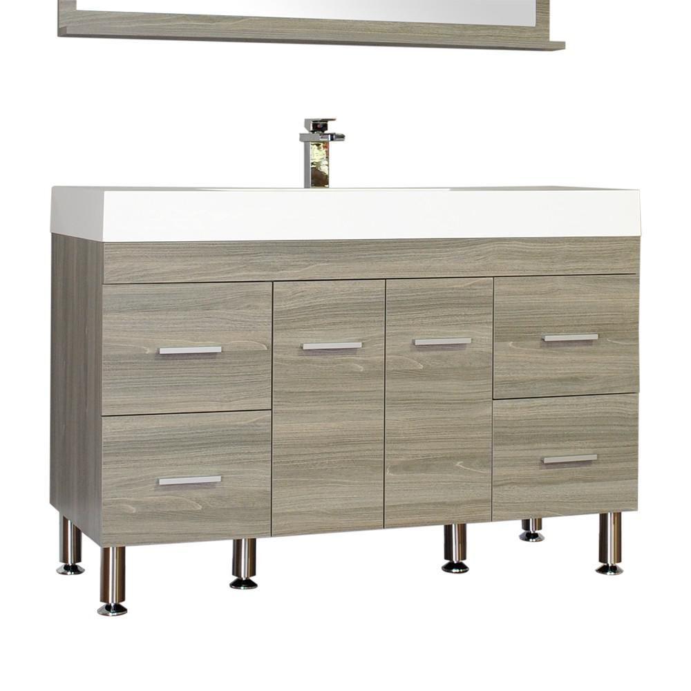 Ripley 47 In W X 19 5 In D X 33 12 In H Vanity In Gray With Acrylic Vanity Top In White With White Basin In 2020 Single Sink Bathroom Vanity Bath Vanities Complete Bathrooms