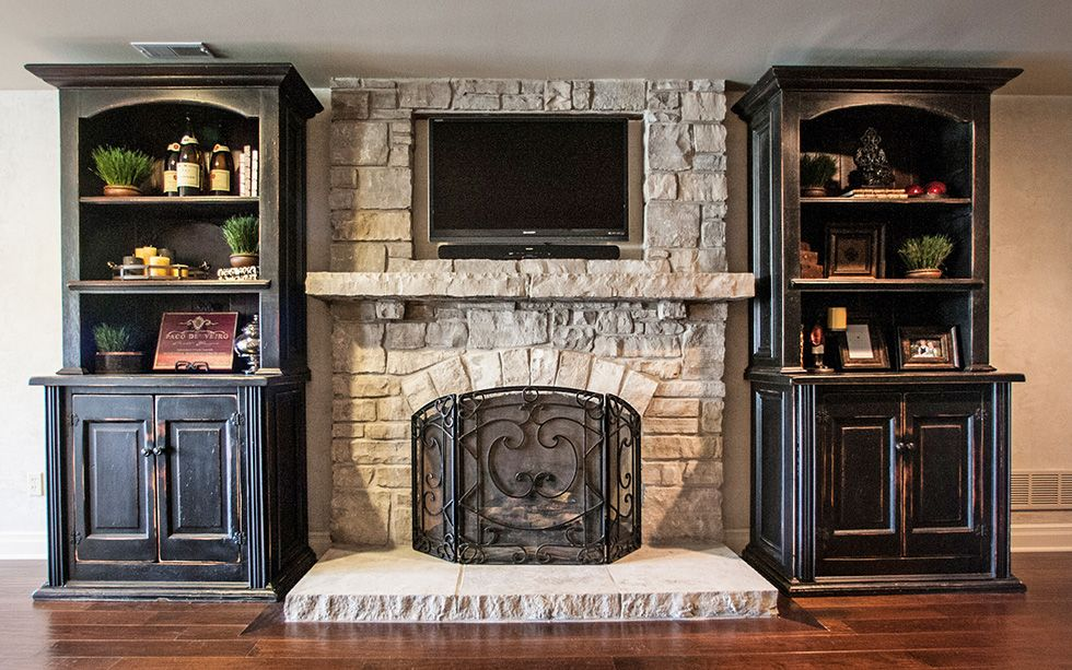 Lightweight Faux Rock Fireplaces Stack