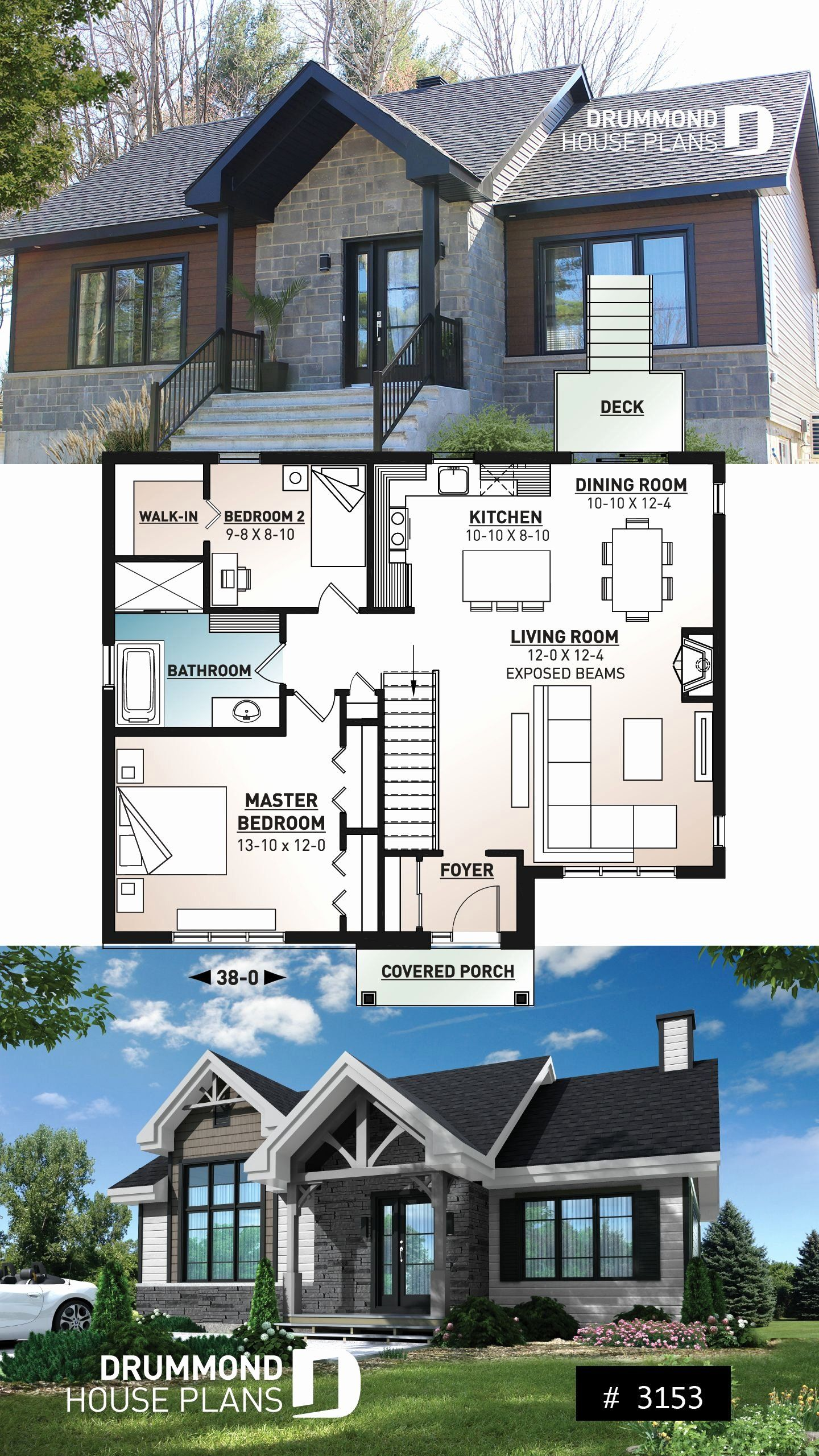 Tiny Ranch House Plans Fresh Modern Ranch House Plan 2 To 4 Bedrooms Low Cost In 2020 Small Modern Home Beach House Floor Plans Beach House Plans