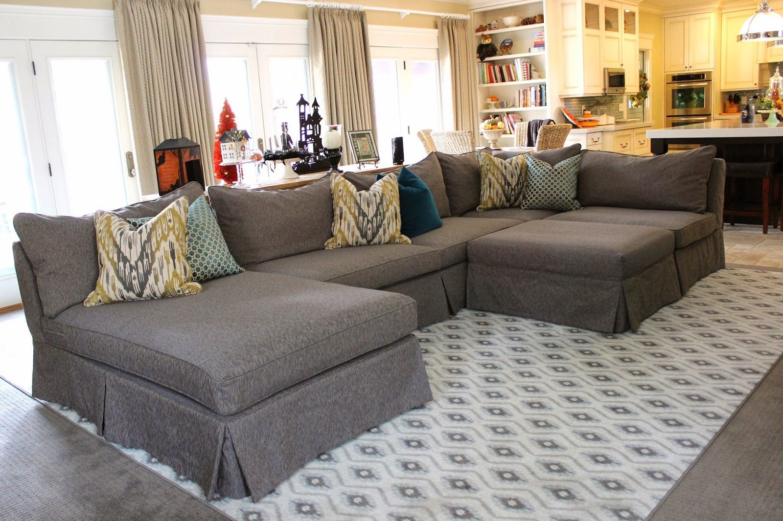 Sectional Living Room Living Room With Grey Sectional Sofa Yes Yes Go