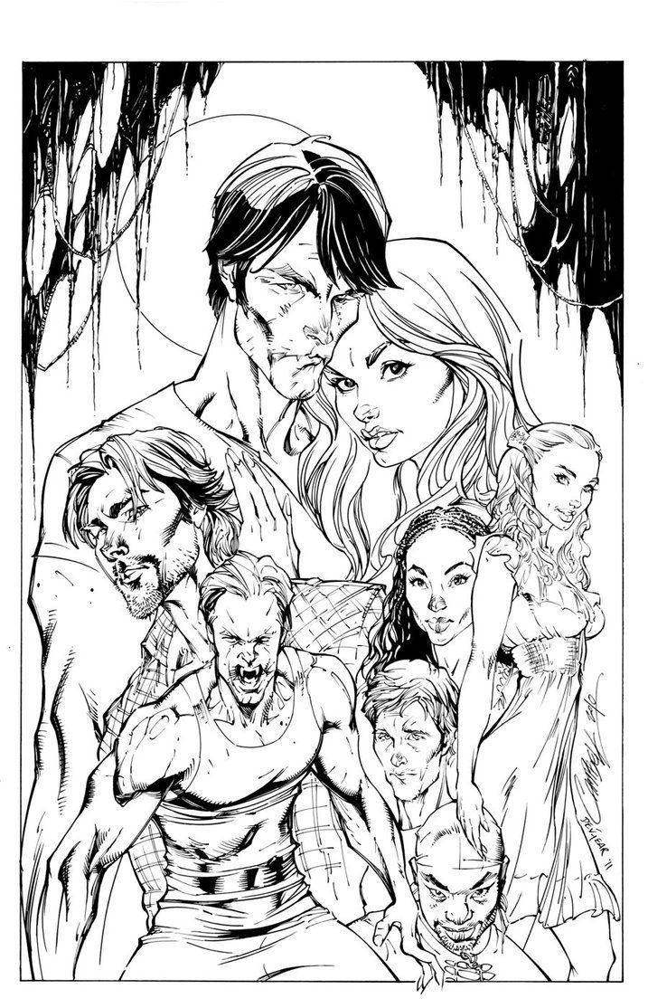 True Blood Cover1 Inks By Devgear Deviantart On Deviantart