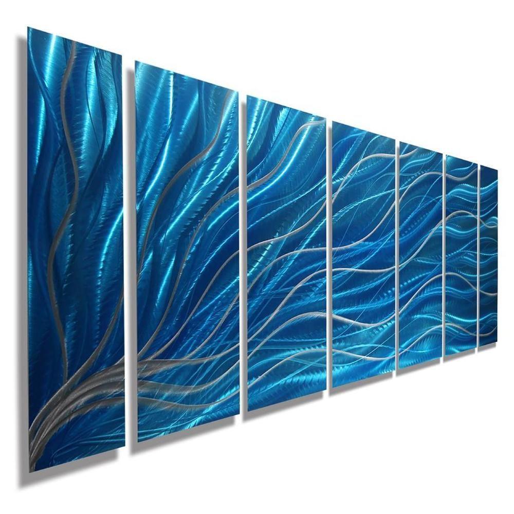 Modern Abstract Teal Metal Wall Art Home Decor Aqua Magnetism By Jon Allen Title Aqua Magnetis Abstract Metal Wall Art Metal Wall Art Panels Metal Wall Art