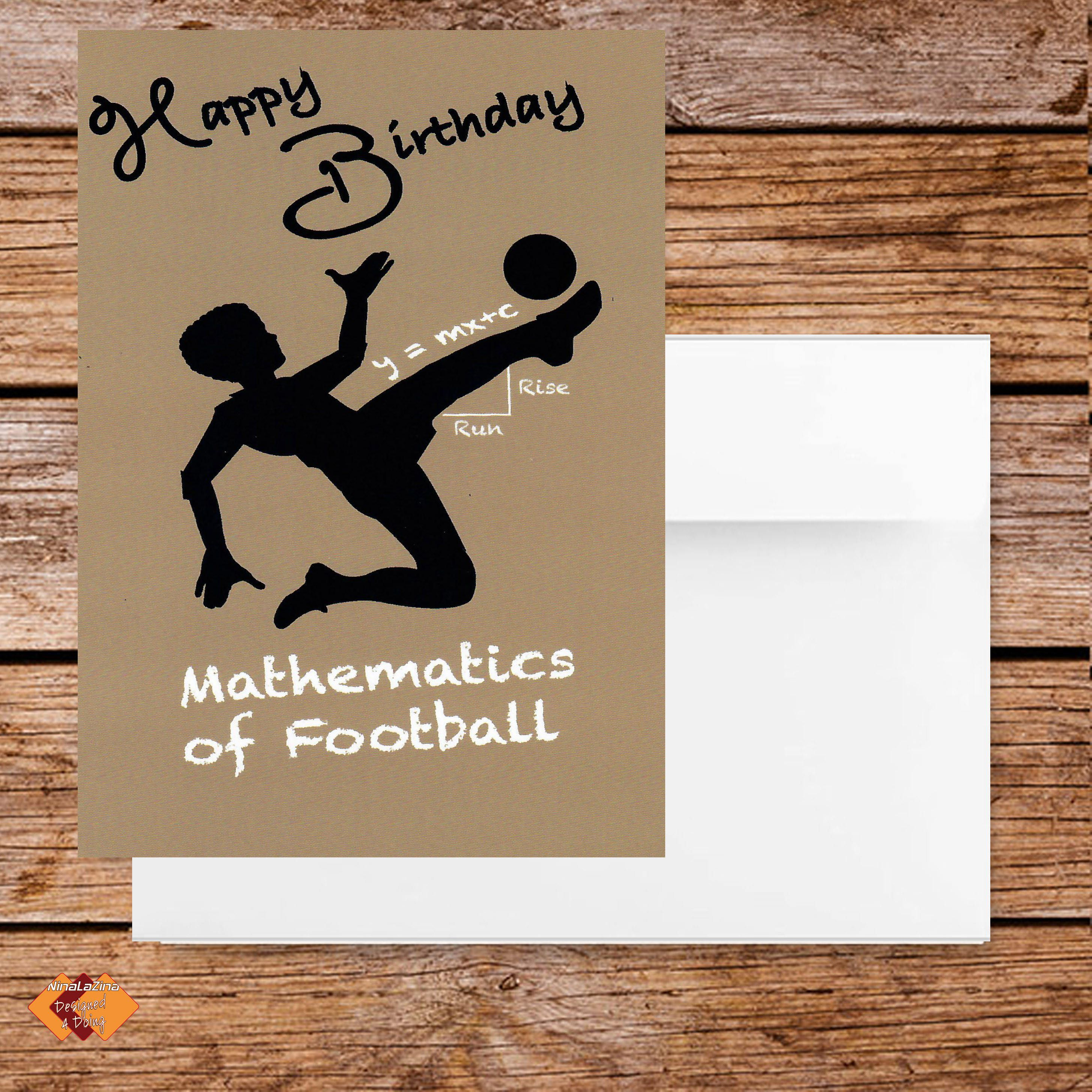 Son Birthday Greeting Card BIRTHDAY Soccer Baseball Football Tennis Sports