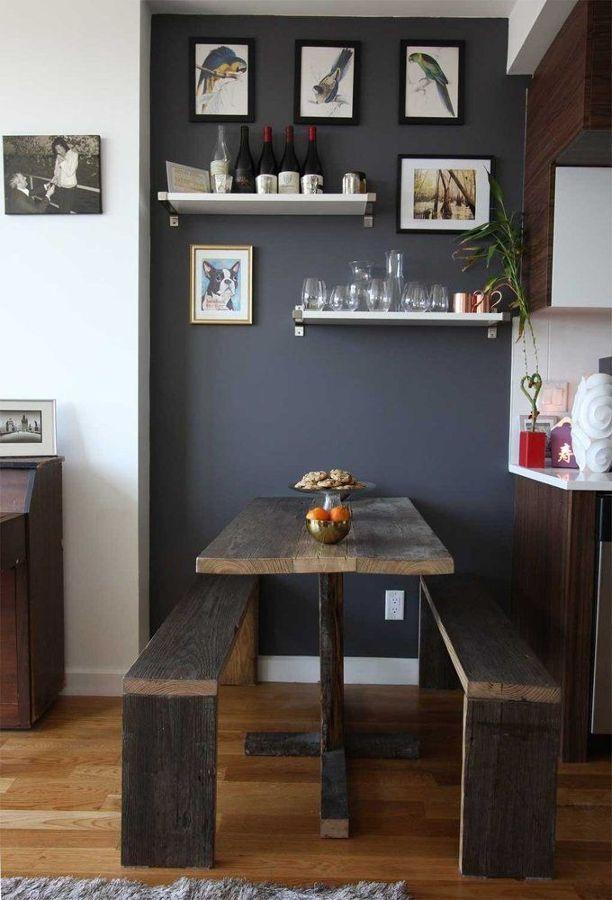 Banco de madera en la cocina #mesa | Mesas y mesitas de noche ...