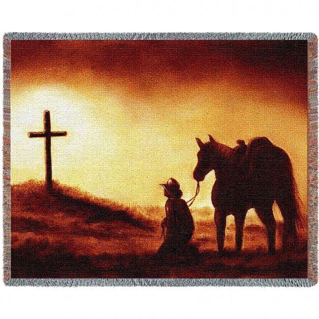 Reverence Western Cross Woven Blanket