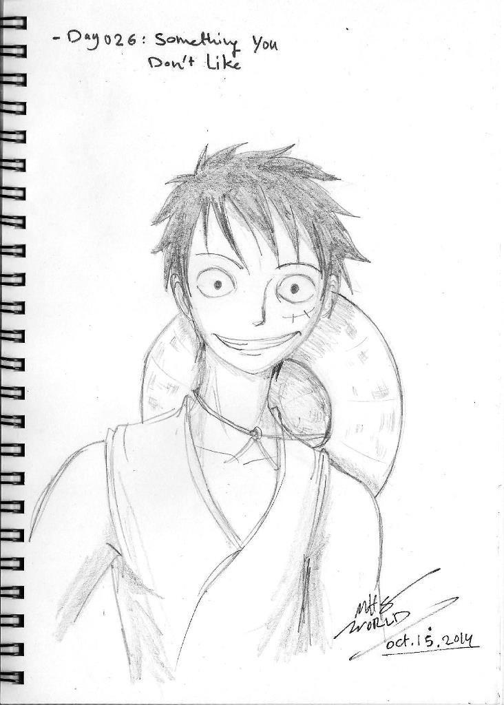 Jour 026: Quelque chose que je n'aime pas (méthode de dessin de personnages animés en une seule pièce) - Komikia 30 DAY DRAWING CHALLENGE Chapter: ...