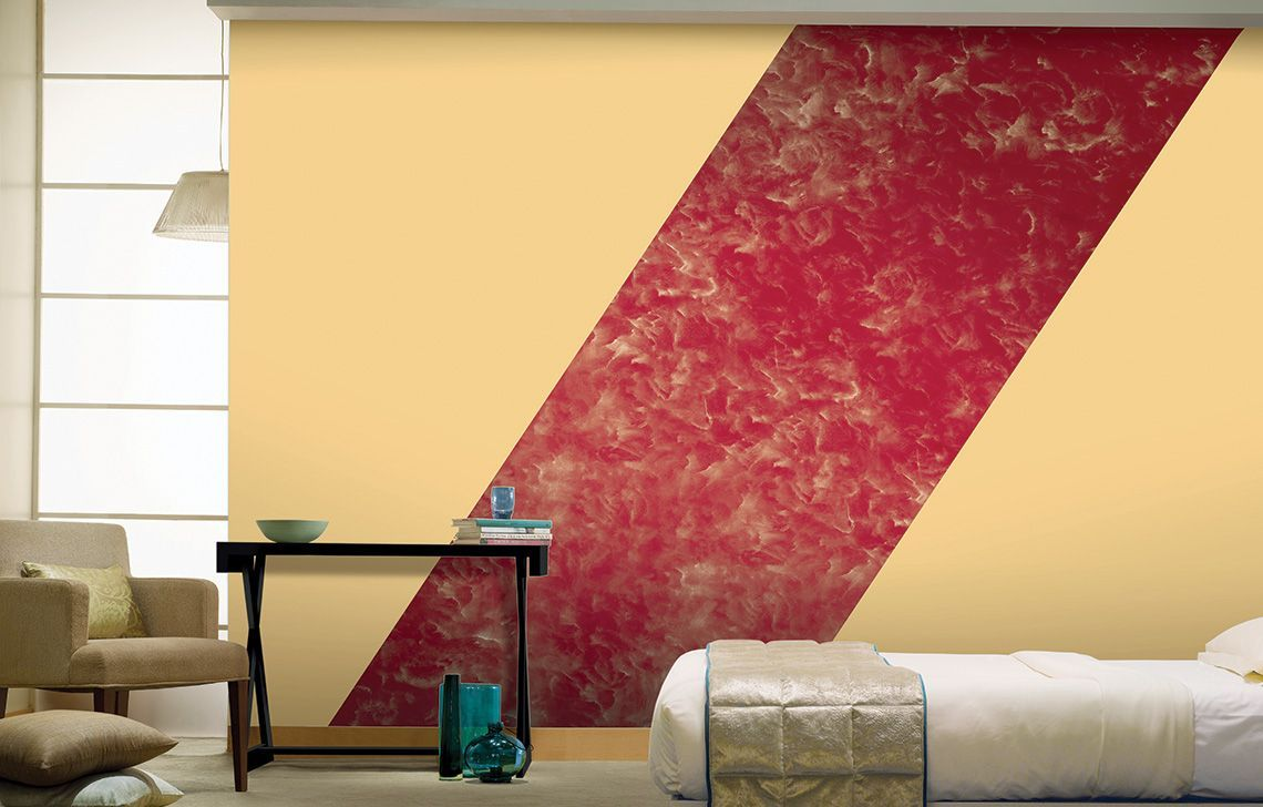 Red Bedroom Textured Designs – Royale Play Plus | Wall ideas ...