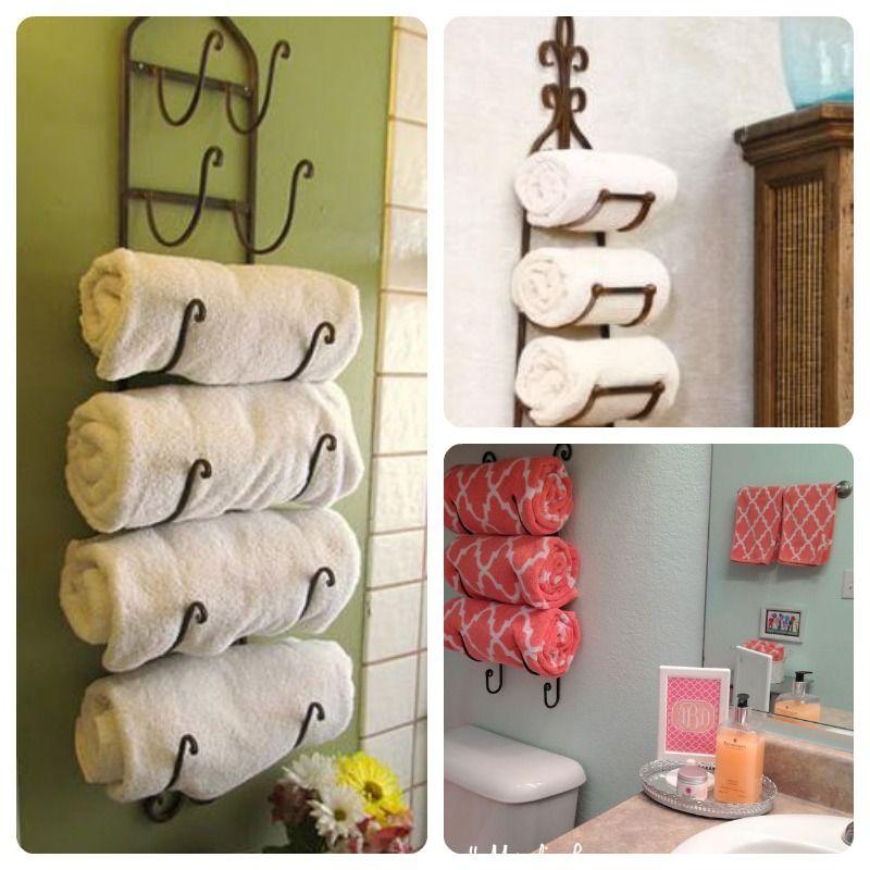 toalleros hechos con un botellero Muebles Pinterest Muebles - muebles para baos pequeos