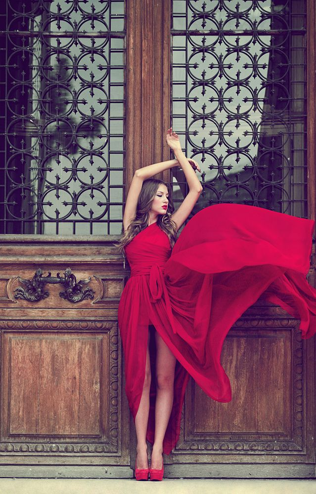 Lady in red by *DoraLovey on deviantART