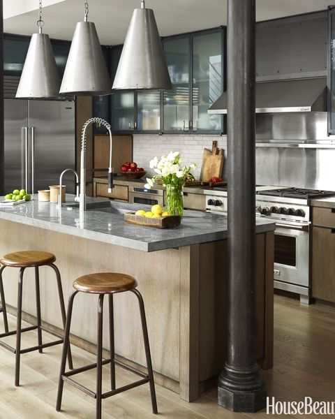 This Industrialstyle Kitchen Masters Mixed Materials  Industrial Inspiration Masters Kitchen Design Review
