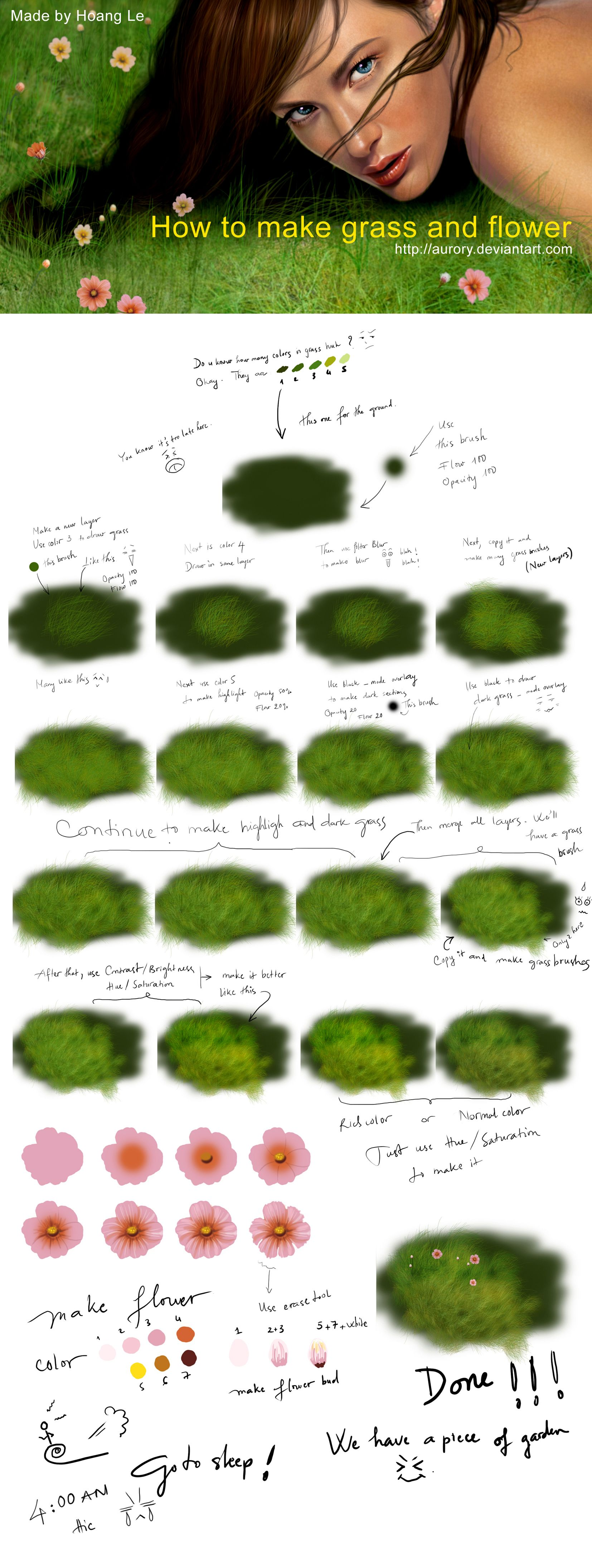 Photoshop digital painting tutorial how to create realistic grass photoshop digital painting tutorial how to create realistic grass and flowers i love this one baditri Image collections