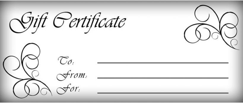 Free Printable Gift Certificate Template Professional Customize 64