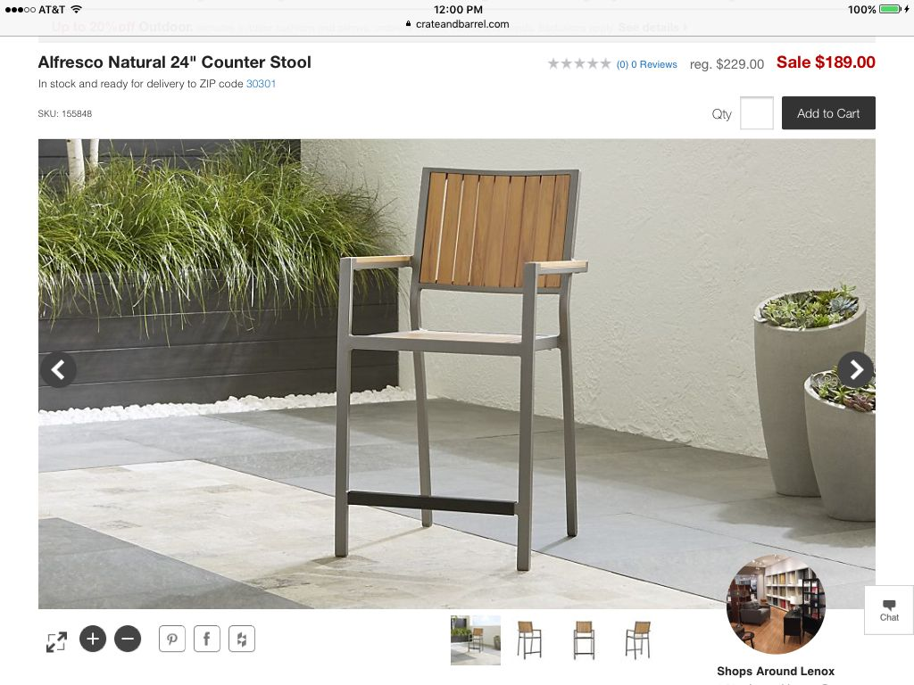 Four high stools for table.