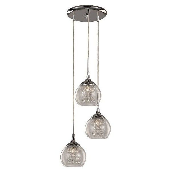 trans globe lighting glass and crystal 3 drop pendant 226