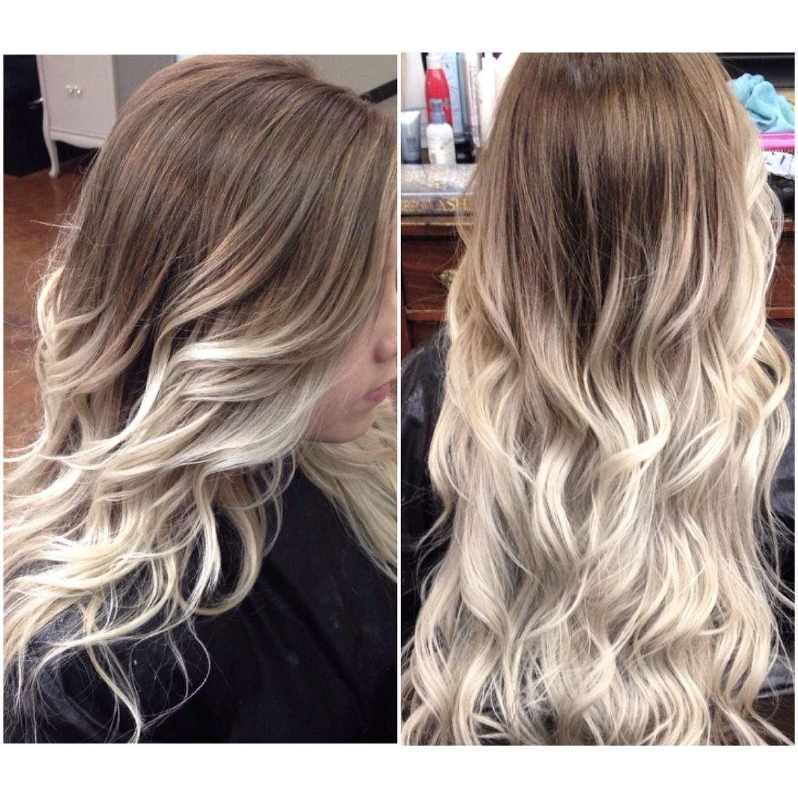 Icy blonde ombre! icyblonde ashblonde balayge ombre