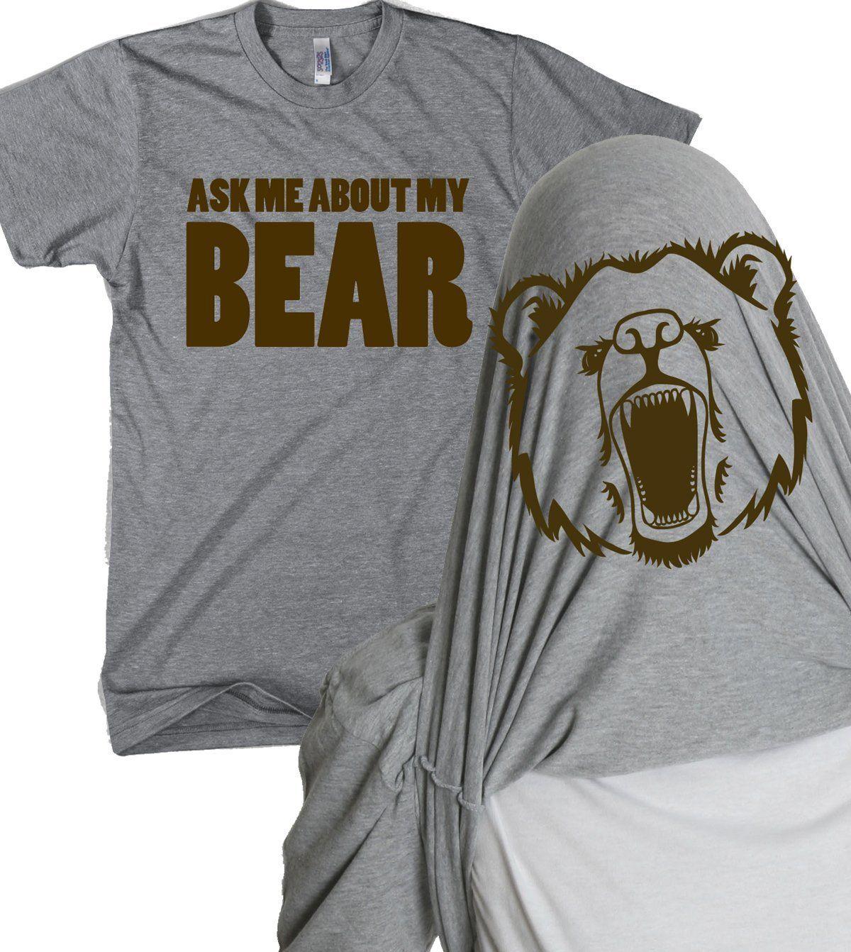 Toddler Ask Me About My Polar Bear Cool Animal Face Flip Up T shirt