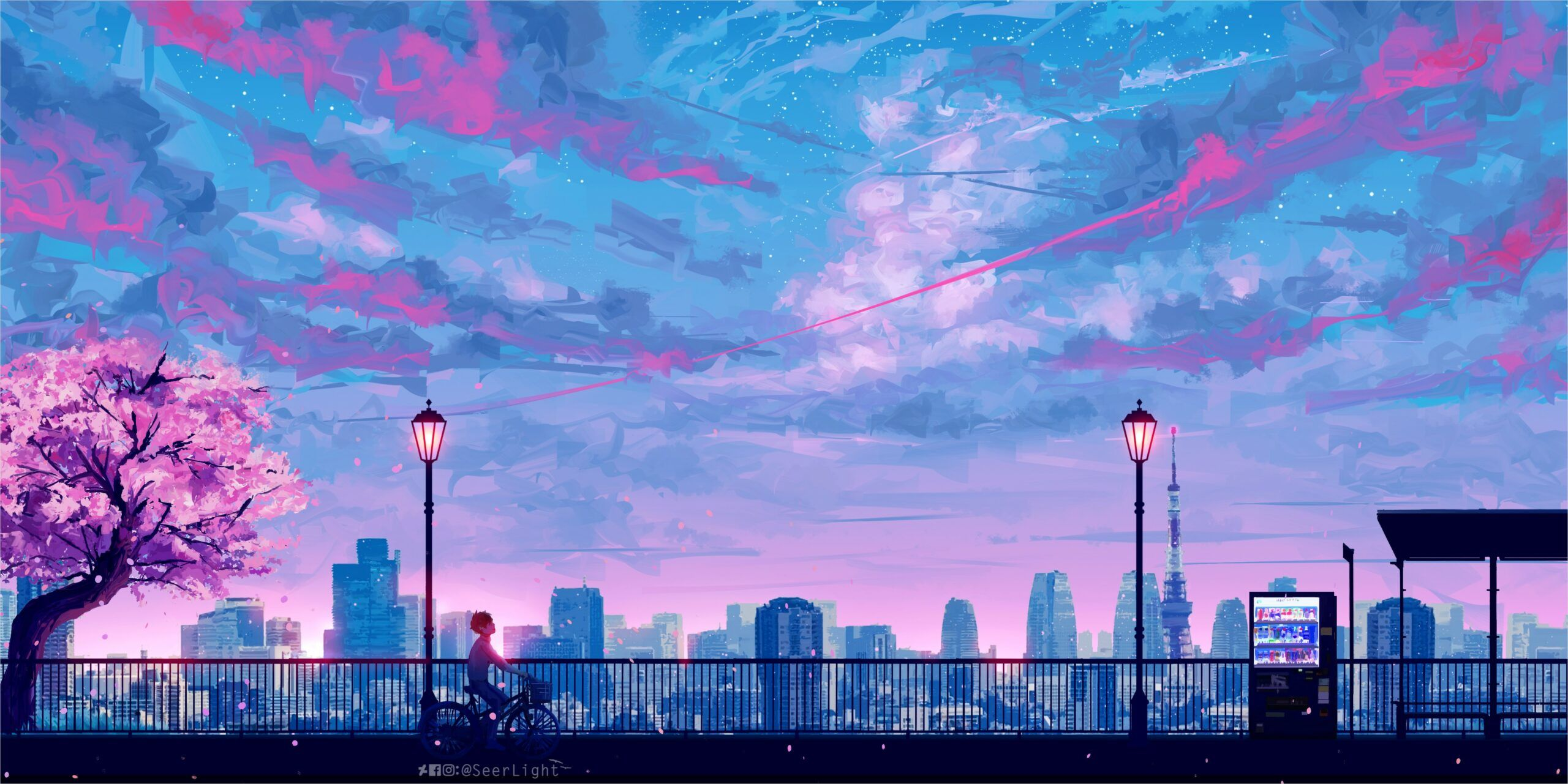 4k Anime Landscape Wallpapers Papel De Parede Do Notebook Papel De Parede De Arte Papeis De Parede Esteticos