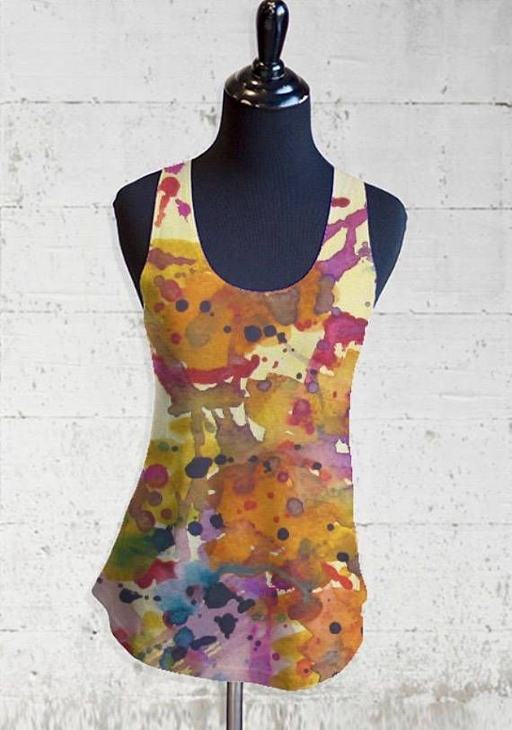Printed Racerback Top - Watercolor by VIDA VIDA Fast Delivery Cheap Sale Pictures Discount Good Selling Free Shipping Exclusive I1CuUpg
