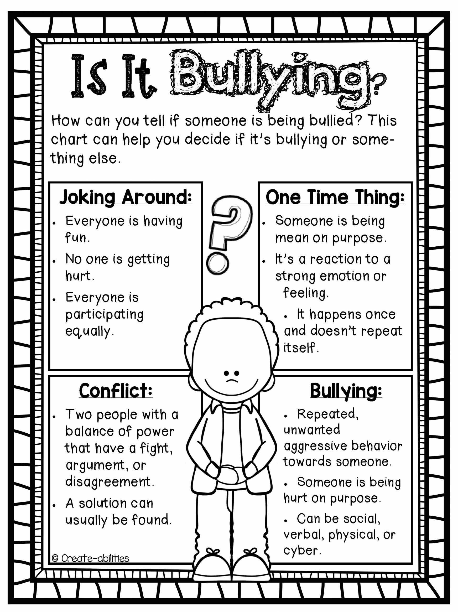 Kindergarten Worksheet Template Anti Bullying Worksheets