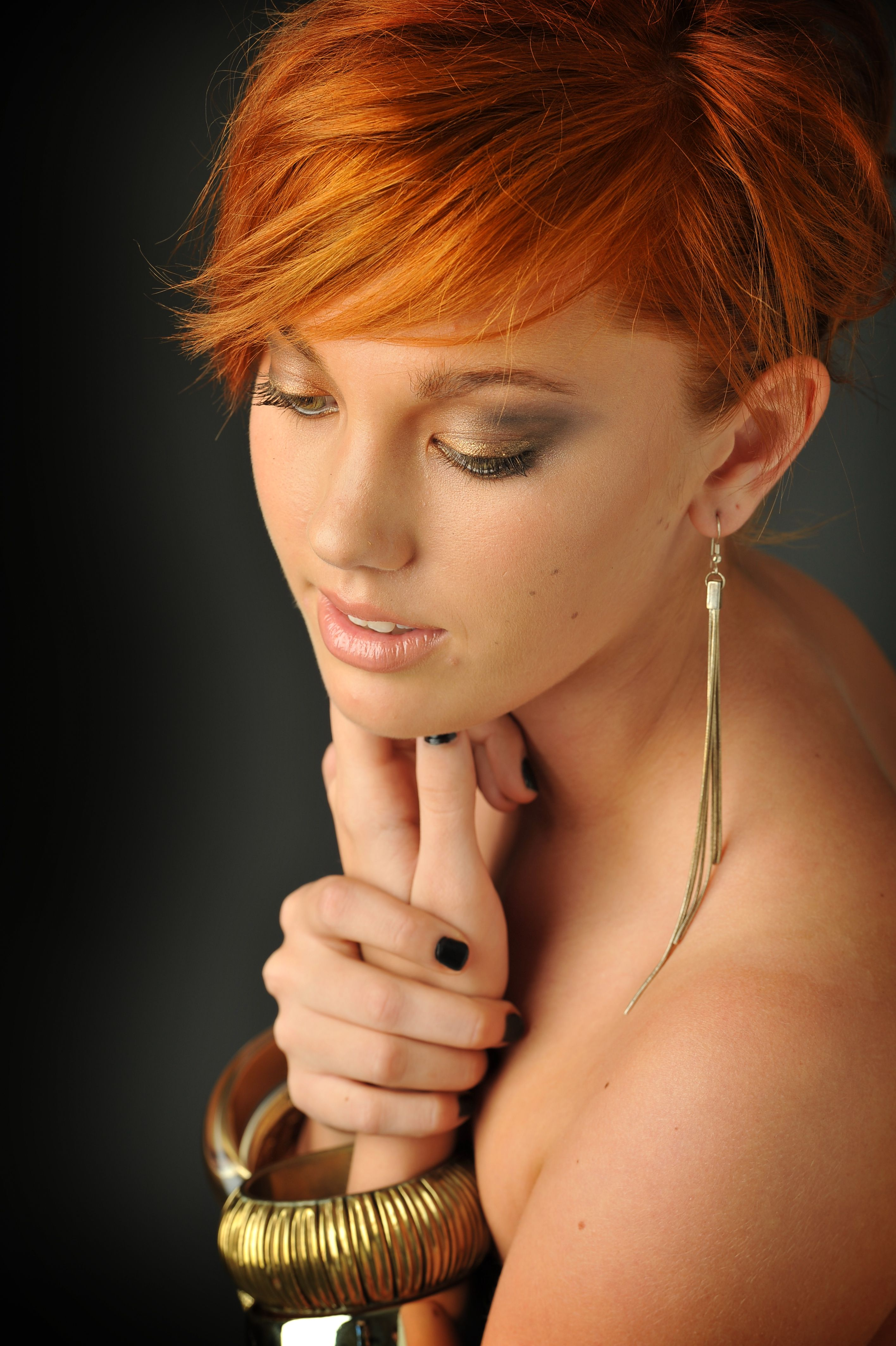 I love this copper hair pixie cut very soft yet funky colour more