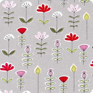 Gray Flowers | City Scene Collection | Organic Cotton