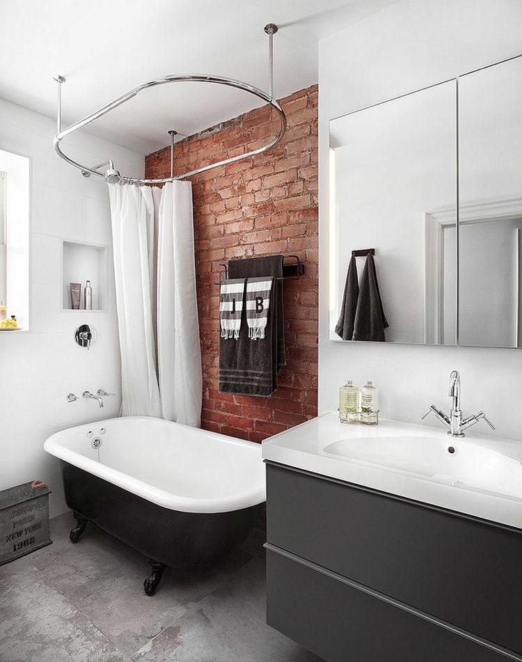 Wandgestaltung im Bad – 25 Ideen mit Backstein ...