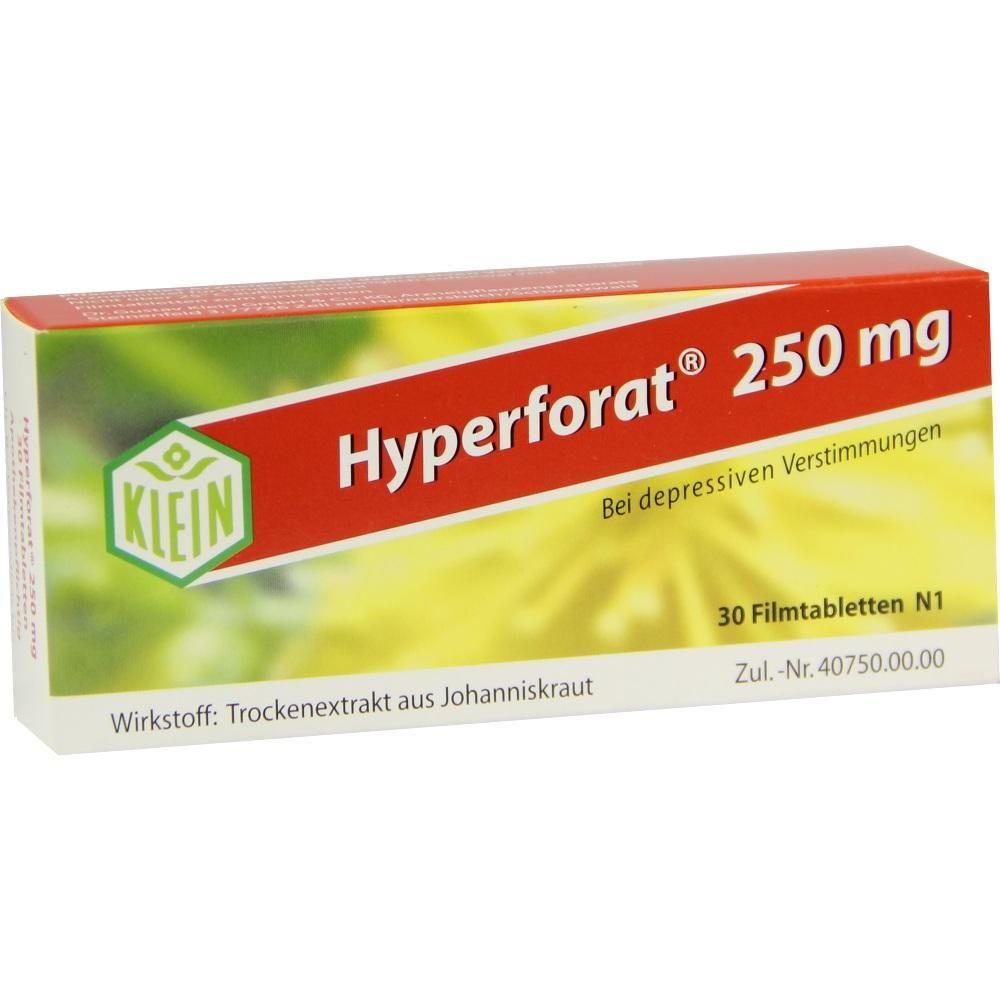 HYPERFORAT 250 mg Filmtabletten:   Packungsinhalt: 30 St Filmtabletten PZN: 04004578 Hersteller: Dr. Gustav Klein GmbH & Co. KG Preis:…
