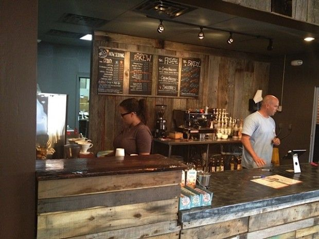The well nashville 39 s newest coffeehouse barn wood barn for Coffee shop setup and decor