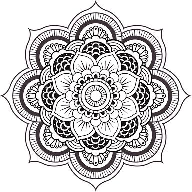 explore coloring pages mandala and more flor de