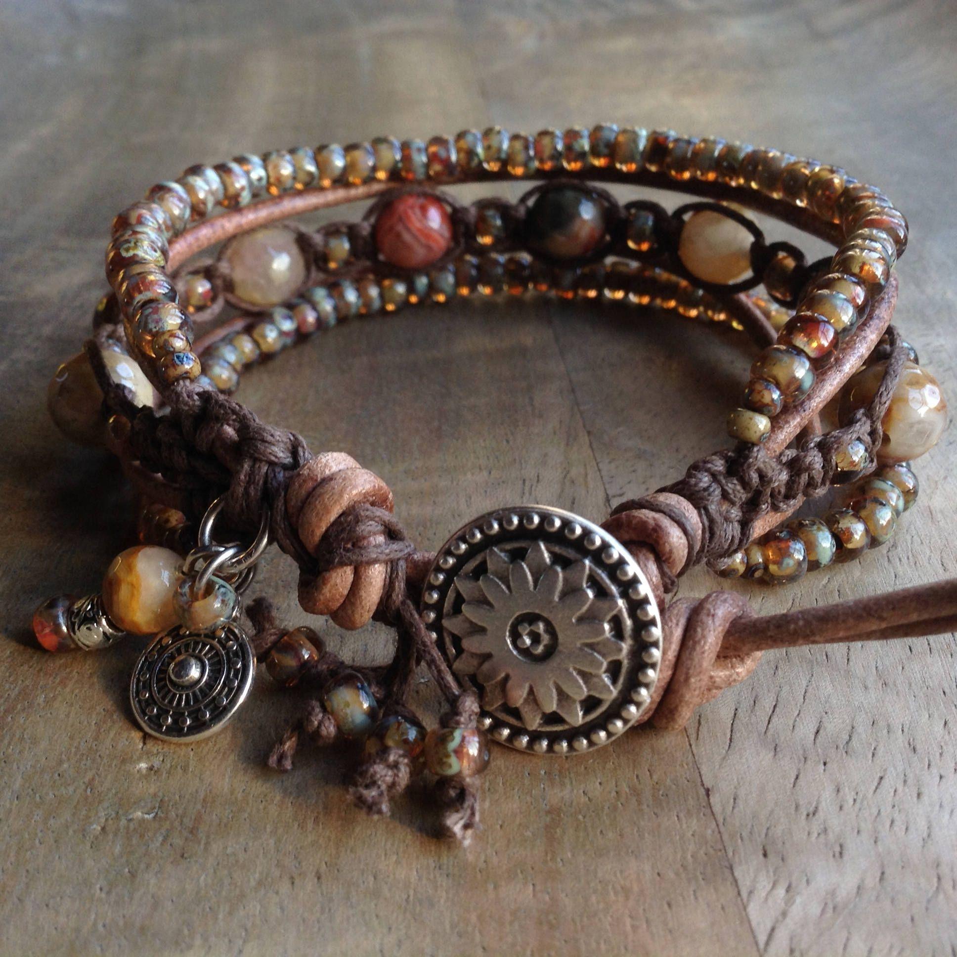 Agate Bohemian Bracelet Boho Chic