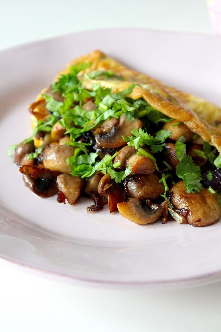 Omelet met champignons #koolhydraatarm - ENJOY! The Good Life