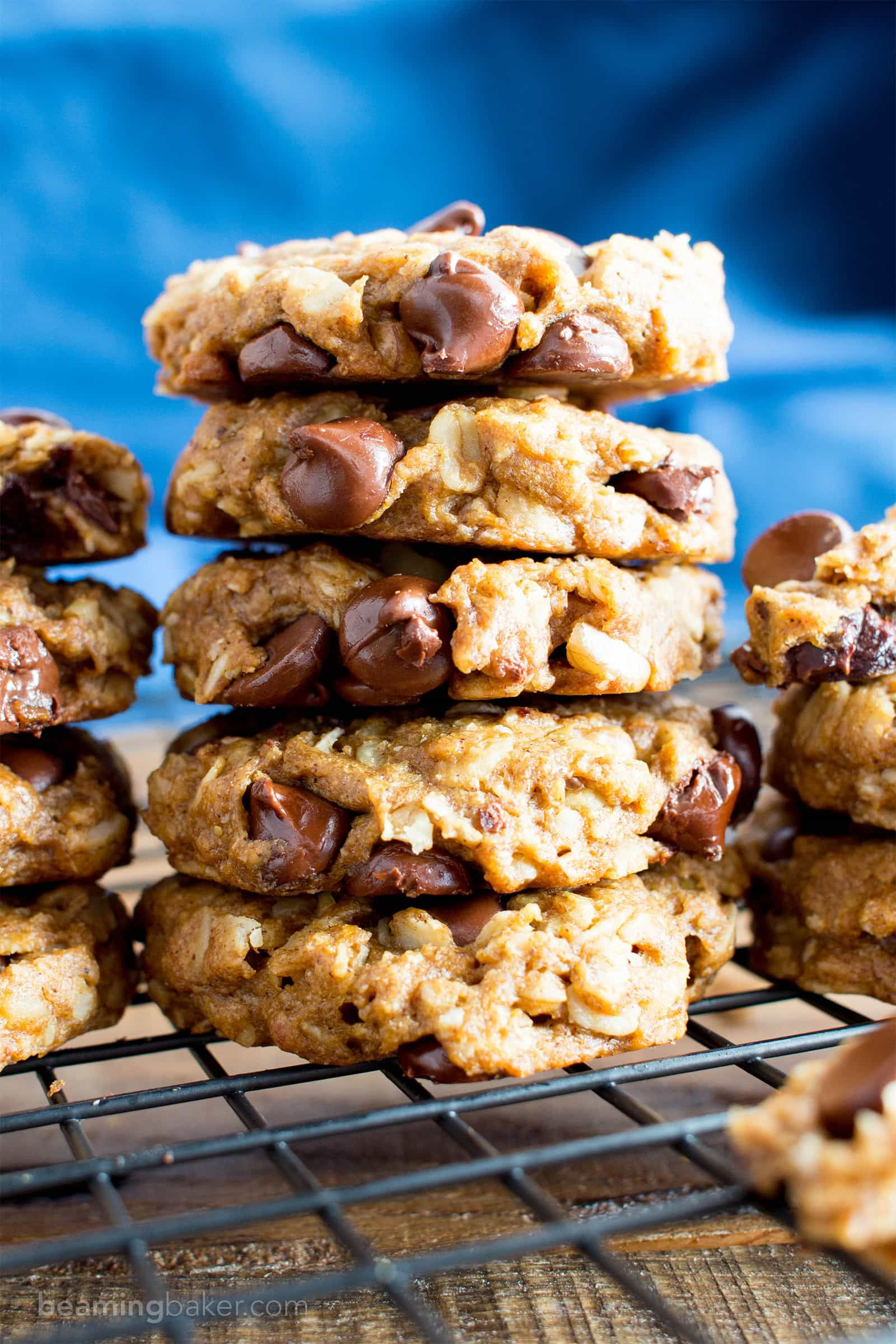 Easy Gluten Free Peanut Butter Chocolate Chip Oatmeal Cookies V