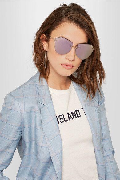 Karen Walker Woman Cat-eye Gold-tone And Tortoiseshell Acetate Sunglasses Gold Size Karen Walker 6iR5zeyCV4