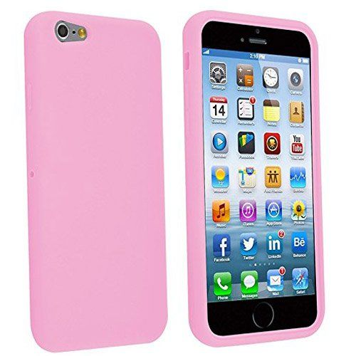 custodia iphone 6s silicone rosa