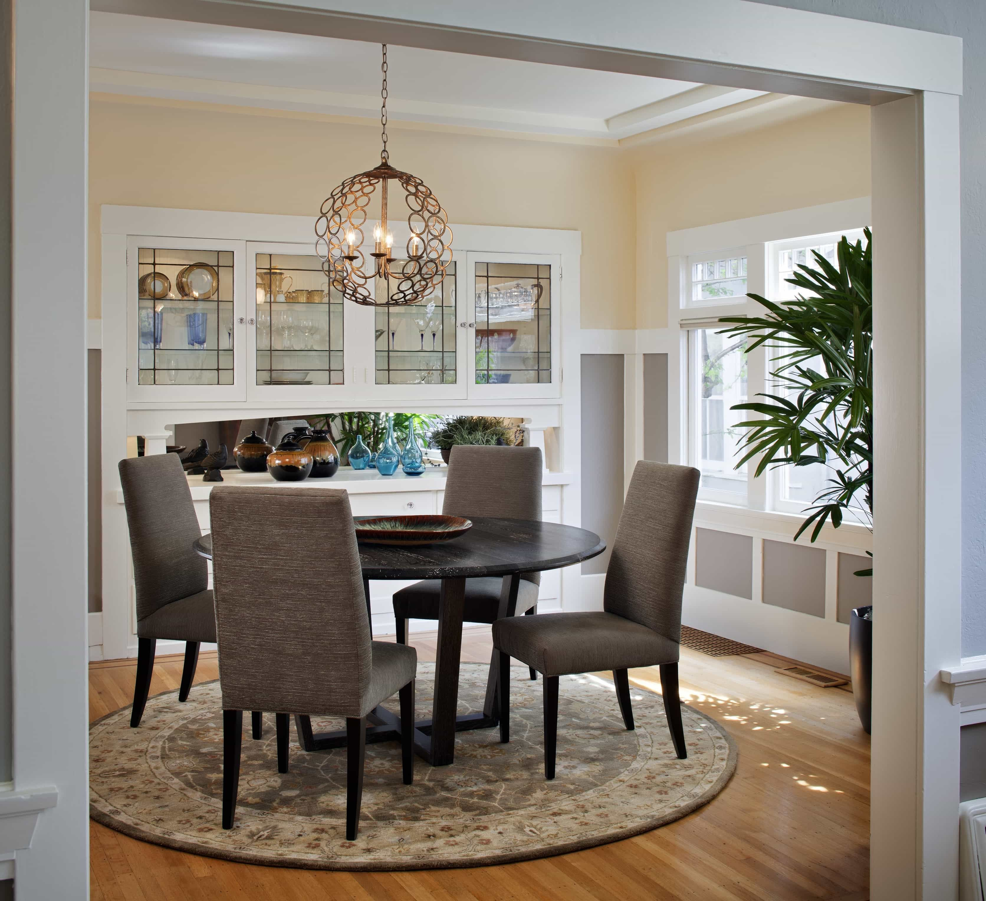 Craftsman Lighting For Dining Room With Round Table Farmhouse Dining Rooms Decor Craftsman Dining Room Round Dining Table Furniture